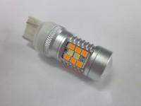Светодиодная лампа ДХО + поворотник 7443 28W